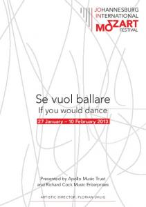 2013: se vuol ballare - if you would dance