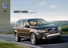 2013 Volvo XC90 Owners Manual