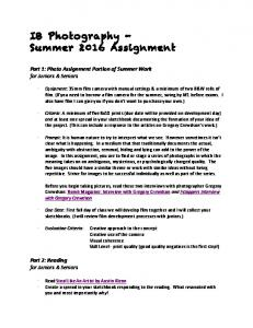 2013_Tuner_IB_Art_Summer _Notes - Trinity Episcopal School