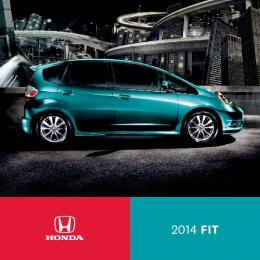 2014 Honda Fit Brochure