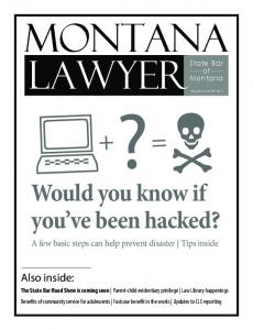 2014 May Montana Lawyer - State Bar of Montana