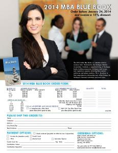 2014 mba blUe bOOK Order fOrm - Michigan Bankers Association