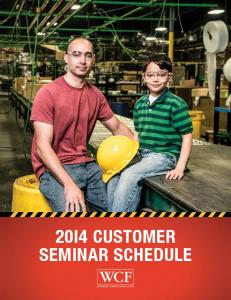 2014 Safety Seminar Schedule - Workers Compensation Fund