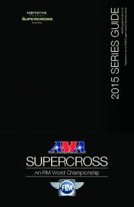 2015 AMA Supercross media guide