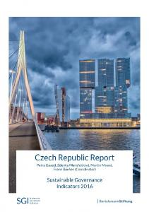 2016 Czech Republic Country Report | SGI Sustainable ... - SGI Network