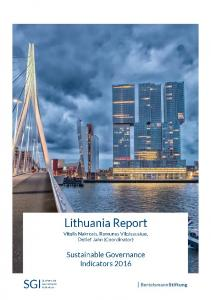 2016 Lithuania Country Report | SGI Sustainable ... - SGI Network