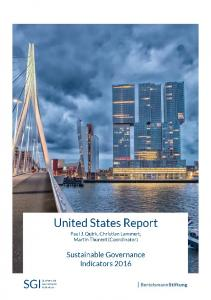 2016 USA Country Report | SGI Sustainable ... - SGI Network