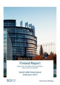 2017 Finland Country Report | SGI Sustainable ... - SGI Network