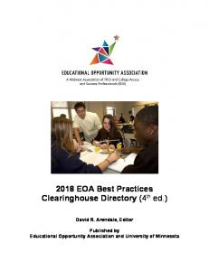 2018 EOA Best Practices Clearinghouse Directory (4th ed.) - Eric