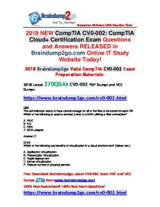 2018 New Braindump2go CV0-002 Dumps PDF 270Q&As Free Share(99-109)