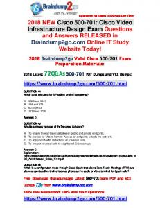 [2018-New-Exams]Braindump2go New 500-701 PDF Dumps 75Q&As Free Share(44-54)