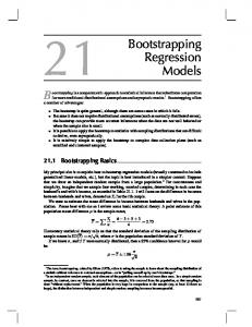 21 Bootstrapping Regression Models
