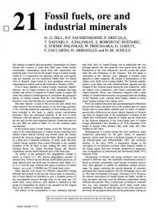 21 Fossil fuels, ore and industrial minerals
