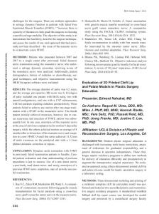 214 Evaluation of 3D Printed Cleft Lip and Palate