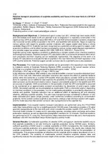 214 Reactive transport calculations of sulphide ...