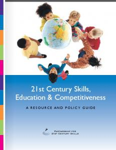 21st Century Skills, Education & Competitiveness - The Partnership ...
