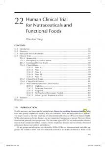 22 Human Clinical Trial for Nutraceuticals and