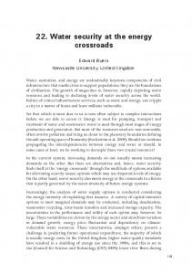 22. Water security at the energy crossroads - ANU Press