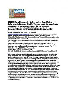 222460 Does Community Vulnerability Amplify the ...
