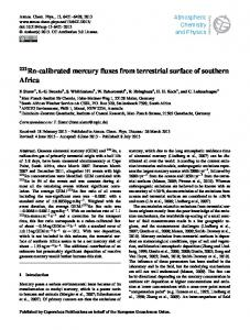 222Rn-calibrated mercury fluxes from terrestrial ... - Atmos. Chem. Phys