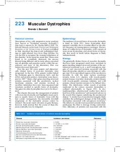 223 Muscular Dystrophies