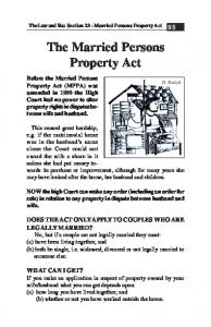 23 The Married Persons Property Act