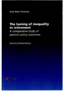 2.3 The welfare state and inequality