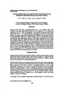 232 CHARACTERIZATION OF CUPROUS OXIDE THIN ... - CiteSeerX