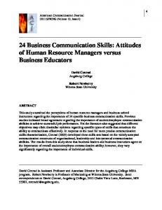 24 Business Communication Skills - American Communication Journal