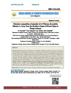 2455-5533 Chemical composition of essential oil of Tithonia diversifolia