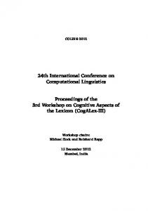 24th International Conference on Computational ...