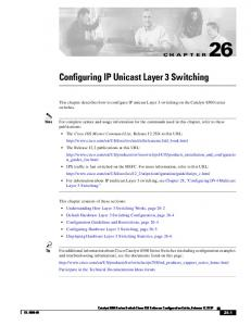 26 Configuring IP Unicast Layer 3 Switching