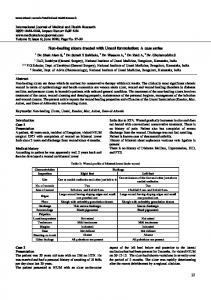 27 Non-healing ulcers treated with Unani formulation - International ...