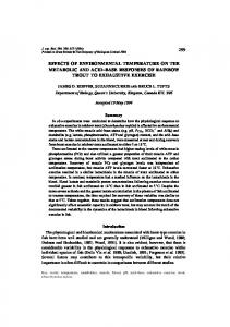 299 effects of environmental temperature on the ... - Semantic Scholar