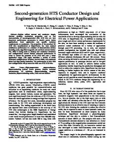 2G HTS Wire Design and Engineering for Electric Power Applications