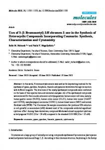 2H-chromen-2-one in the Synthesis of Heterocyclic ... - MDPI