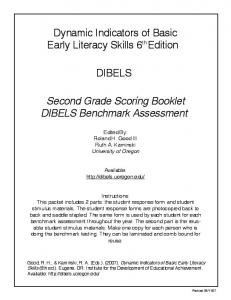 2nd Grade Benchmark Assessment Booklet