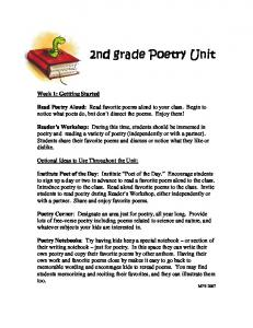 2nd grade Poetry Unit 2nd grade Poetry Unit - RandolphK-5instruction