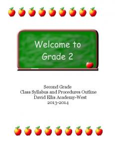 2nd Grade Syllabus