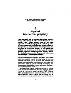 3 Against intellectual property - Brian Martin