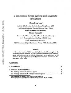 3-dimensional Griess algebras and Miyamoto involutions