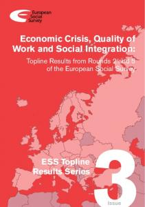 3. Economic crisis, quality of work and social integration - European ...