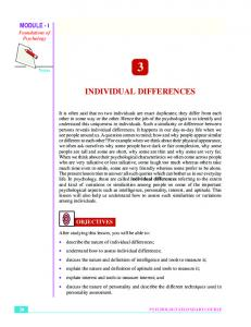 3. Individual Differences