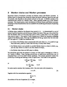 3 Markov chains and Markov processes