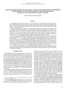 3. Silicification of Deep-Sea Sediments and the Oxygen Isotope ...