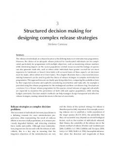 3 Structured decision making for designing complex ...