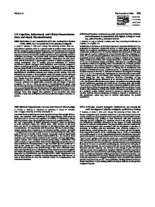 (309) Bilateral hippocampal volume reductions ... - Journal of Pain, The