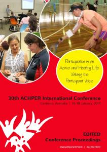 30th ACHPER International Conference Proceedings