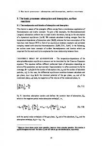 3.1. Thermodynamics and kinetics of adsorption and