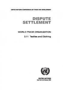 3.11 Textiles and Clothing - Unctad